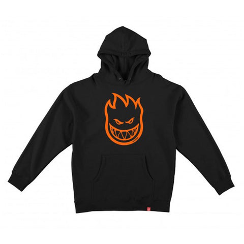 SPITFIRE BIGHEAD HOODIE (YOUTH) - BLACK/ORANGE