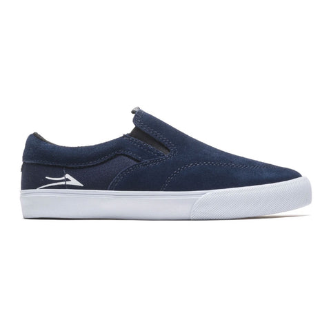 LAKAI OWEN SLIP-ON SUEDE (YOUTH) - NAVY
