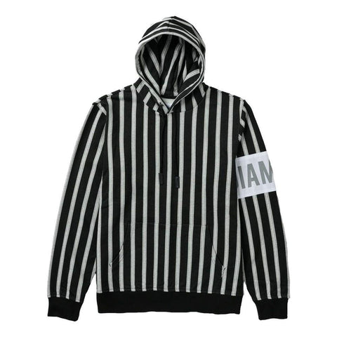DIAMOND LAFAYETTE STRIPED HOODIE - BLACK