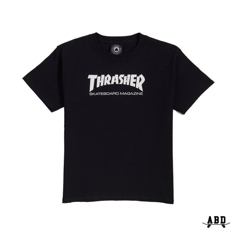 THRASHER SKATE MAG (YOUTH) TEE - BLACK