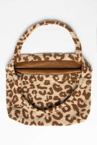 SAC MOM BAG TEDDY LEOPARD ECRU STUDIO NOOS