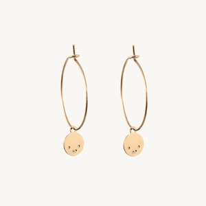 BOUCLES CREOLES SMILEY MATHILDE CABANAS & TITLEE