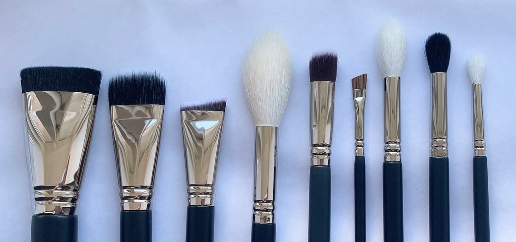 9pc Beginners Makeup Brushes Set - Mehliza Beauty