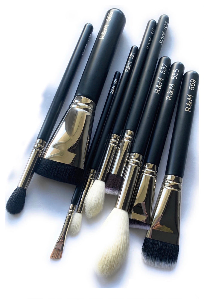 9pc Beginners Makeup Brushes Set - Mehliza Beauty London