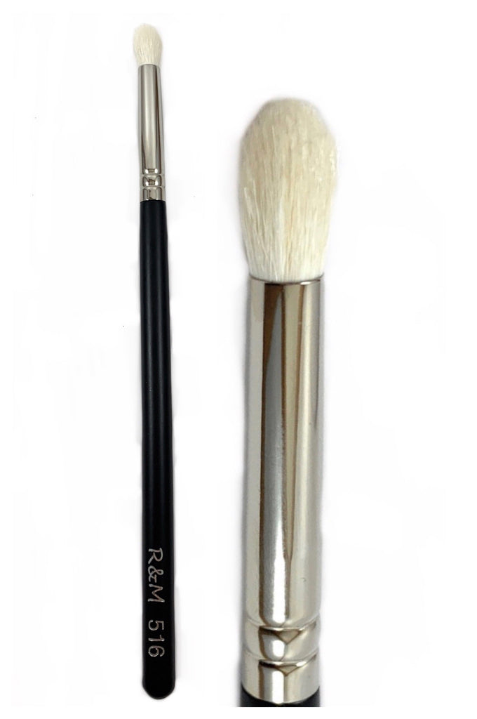 R&M 516 Oval Pointed Small Eye Crease Brush - Mehliza Beauty