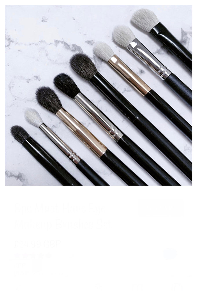 8pc Must Have Eye Makeup Brushes Set - Mehliza Beauty London