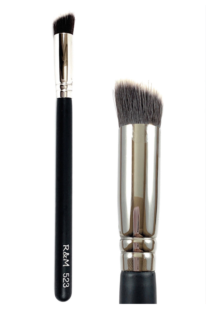 R&M 523 Sharp angled cut flat concealer brush - Mehliza Beauty London