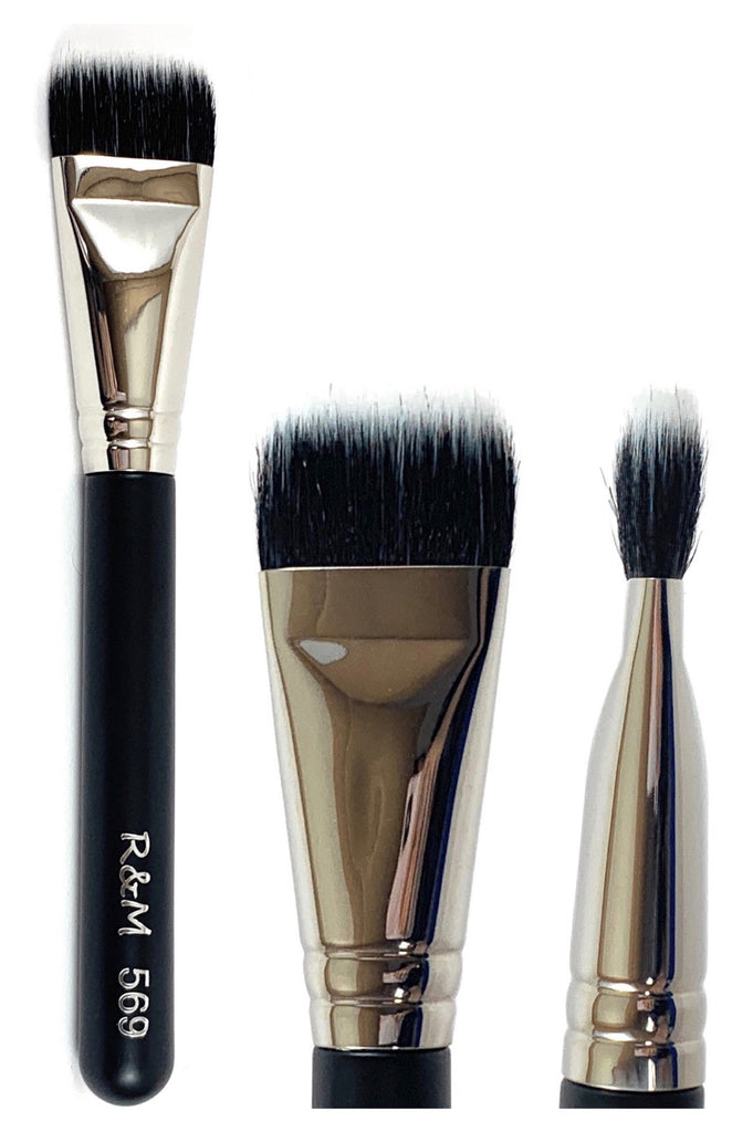 R&M 569 Duo Fibre Square Multipurpose brush - Mehliza Beauty
