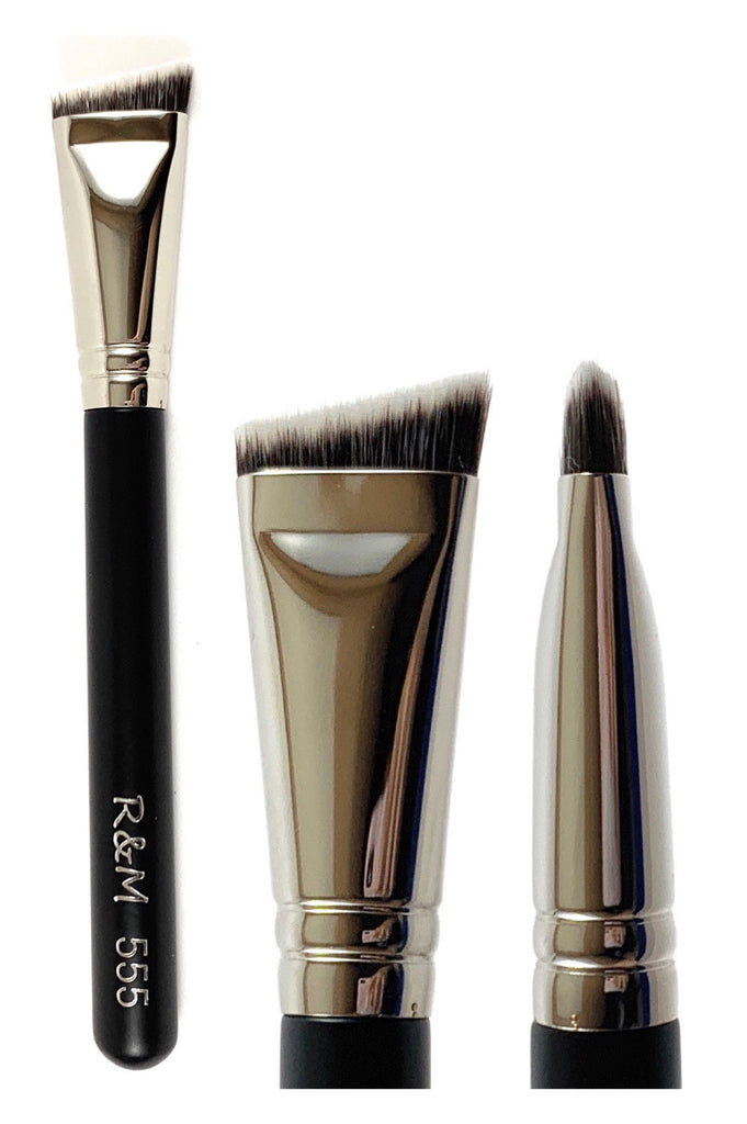 R&M 555 Small Flat Angled Contour brush - Mehliza Beauty London