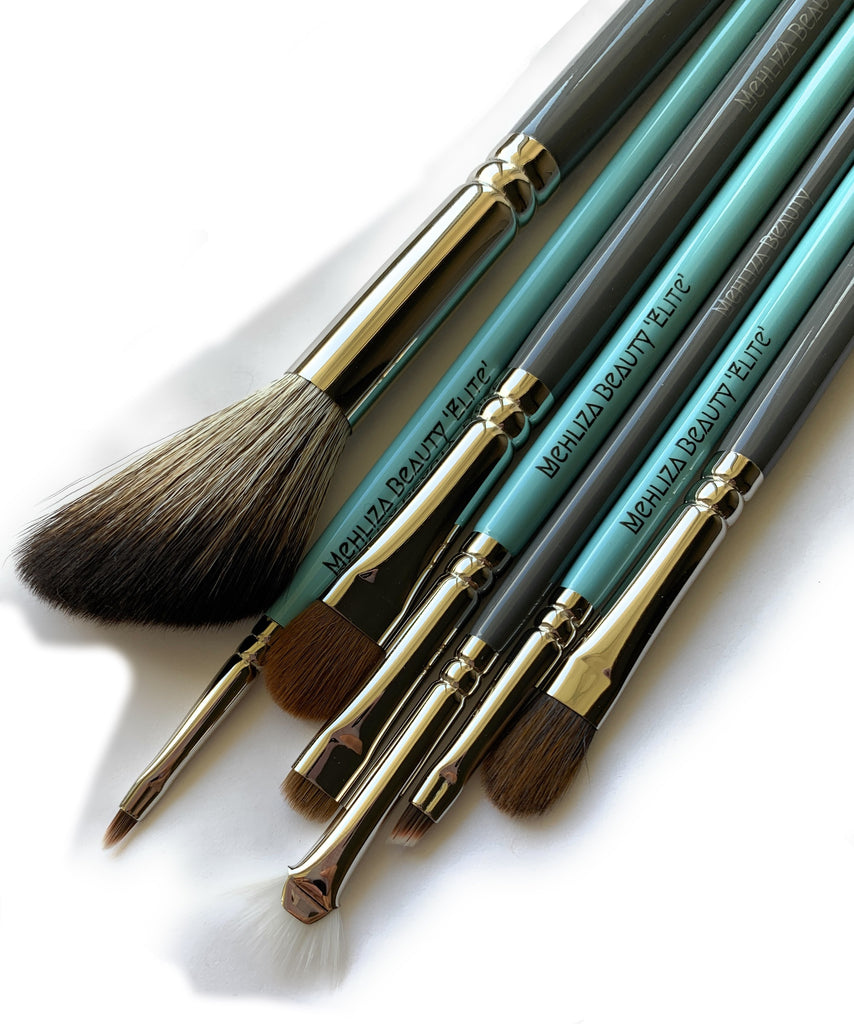 7pc Vegan Makeup Brush Set - Mehliza Beauty