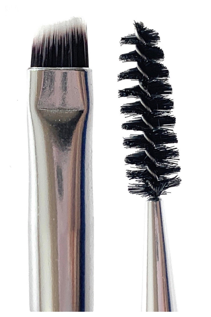 R&M Angled Eye Liner Duo Brow brush - Mehliza Beauty London