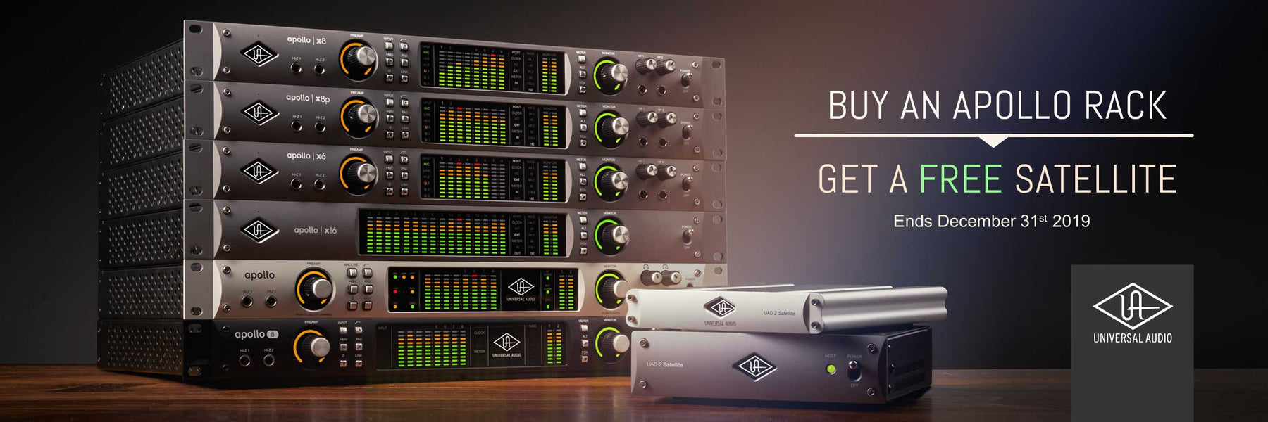 Buy a Rackmount Universal Audio Apollo and Get a Free UAD-2 Satellite DSP Accelerator