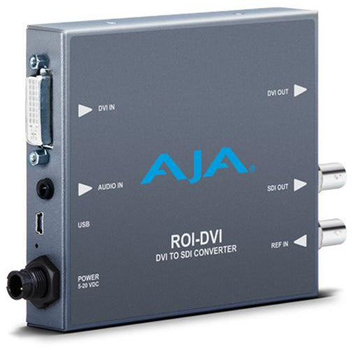 Aja ROI-DVI - DVI/HDMI to SDI with Region of Interest scaling and DVI loop through