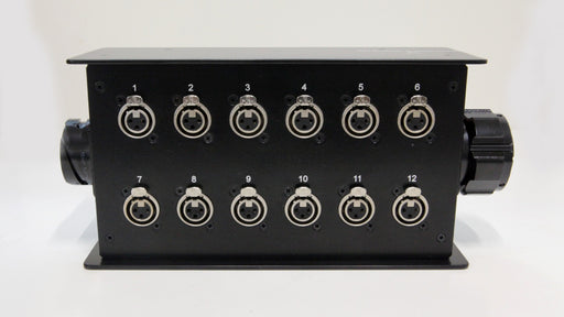 Custom Connex 12 Way Stage Box with LK Connector Out and Feedthrough Connectors