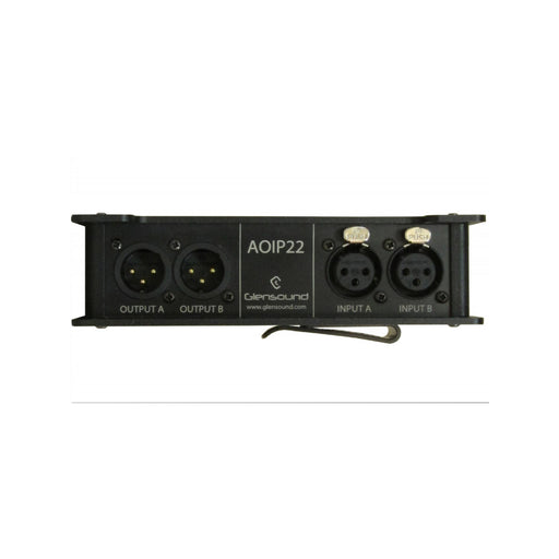 Glensound  AOiP22 - 2 x analogue inputs & outputs portable Dante /  AES67