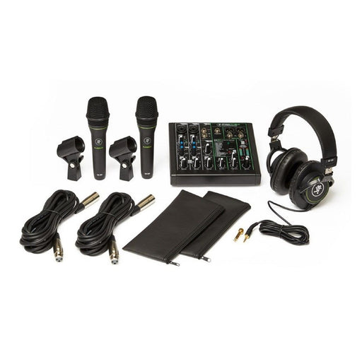 Mackie Performer Bundle with ProFX6v3 effects mixer with USB, two EM-89D dynamic mics and MC-100 headphones.