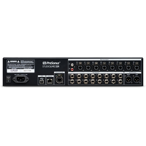 PreSonus StudioLive 32R - 46x26 digital rack mixer with 32 recallable XMAX preamps