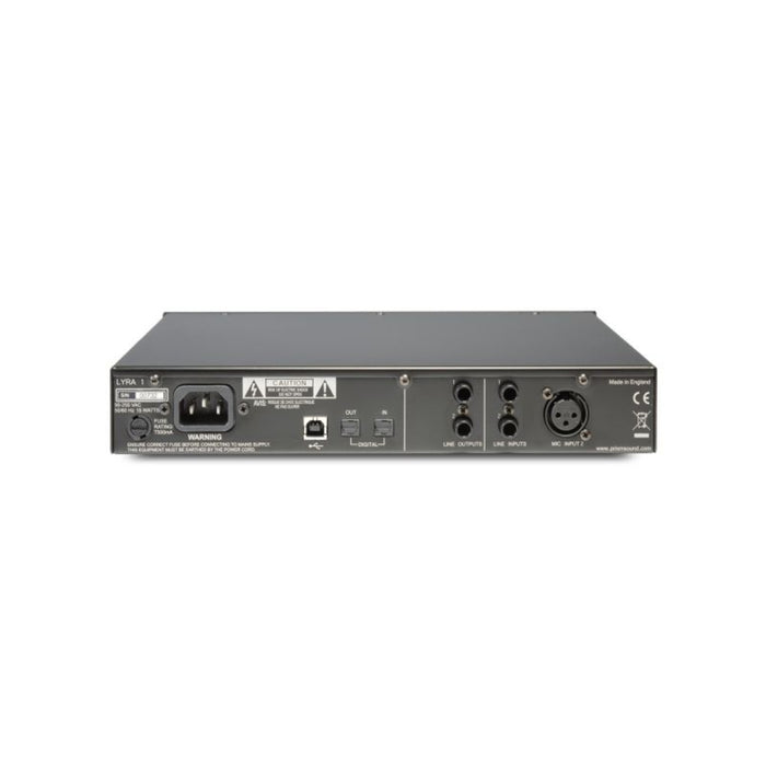 Prism Lyra-1 Stereo USB2 Recording Interface, 1-ch mic pre, 1 x Instrument