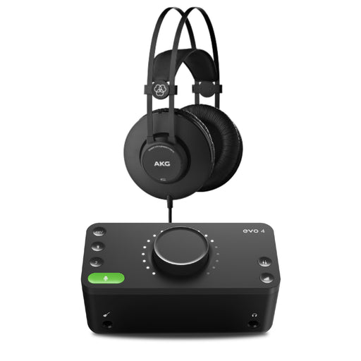 Audient EVO4 Audio Interface and AKG K52 Headphone Bundle