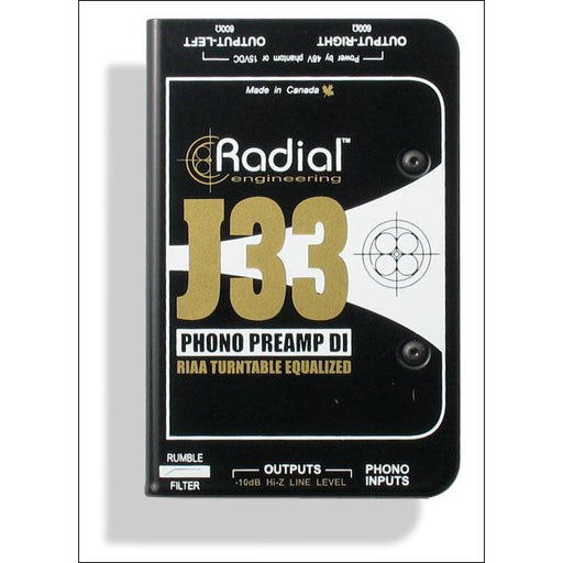 Radial J33 Phono Re-amp and DI Box