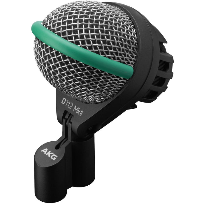 AKG D112 MKII - Professional Dynamic Bass Drum Mic Front Angle