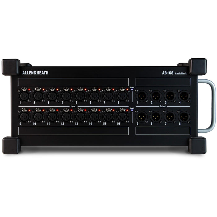 Allen & Heath AB-168 - 16 input, 8 output stage box for use with the Qu & GLD series Mixing desks. Front