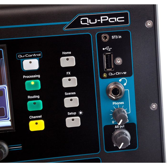 Allen & Heath Qu-PAC Compact Digital Mixer: 16 Mic/Line, Touchscreen