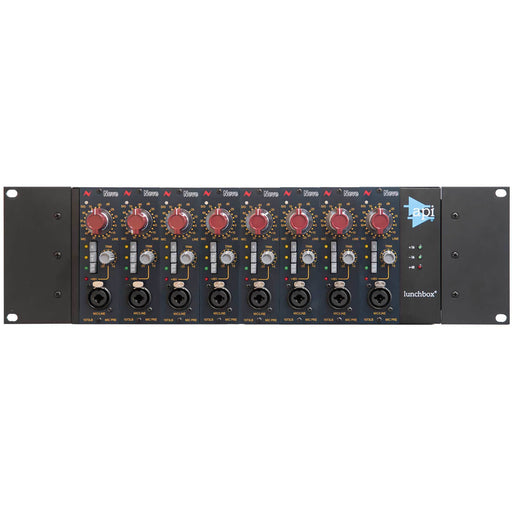 Neve 1073LB 8-Way Rack 500-Series Mono Mic/Pre Module Bundle Inc. API Lunchbox 8HC - 8 Slot Portable 500-Series rack with ext PSU