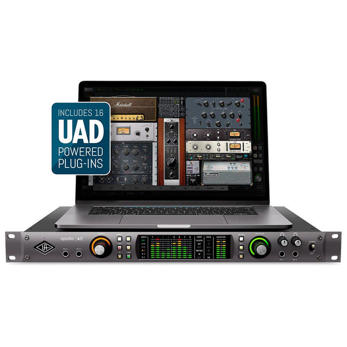 Universal Audio Apollo X8 - Thunderbolt 3 Audio Interface (Mac/Win) - Manufacturer Refurbished & Sealed