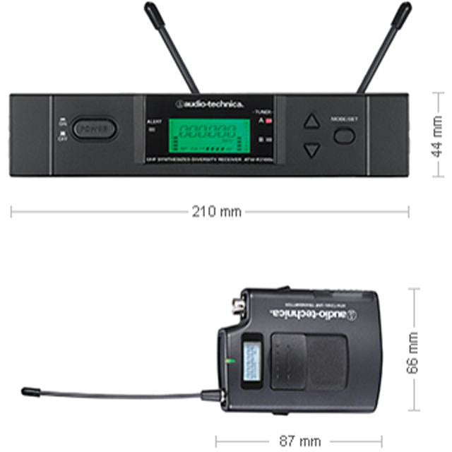 Audio Technica ATW-3110B/H - UniPak system with PRO8HECW