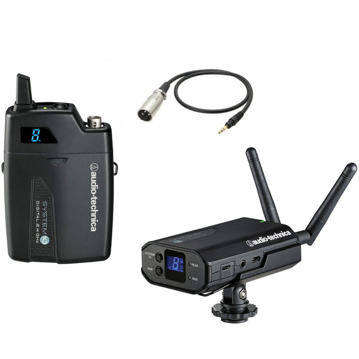 Audio Technica ATW-1701P - System 10 - Receiver with ATW-T1001 with Beltpack Transmitter and XLR Cable (AT8350)