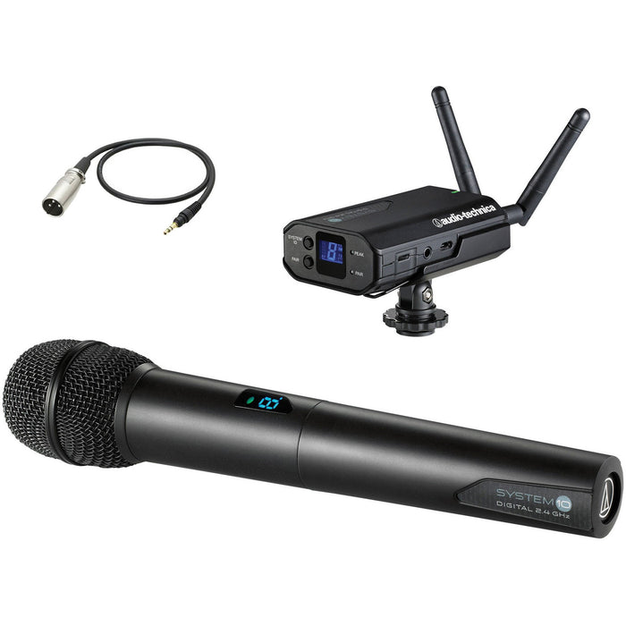 Audio Technica ATW-1702X3M - System 10 - Receiver with ATW-T1002 handheld microphone transmitter and XLR cable (AT8350)