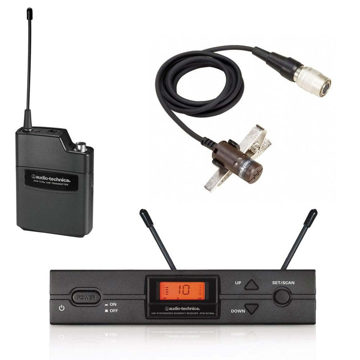 Audio Technica ATW-2110A/P UniPak System with AT829cW Condenser Mic (Channel 38)