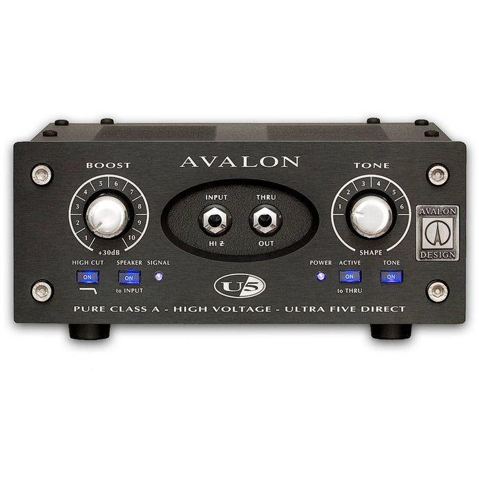 Avalon U5 Mono Instrument DI Box - Black