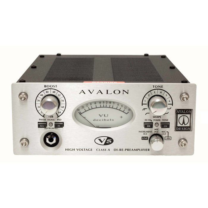 Avalon V5 - High Voltage, Pure Clase A, multi-purpose instrument, line and mic preamp.