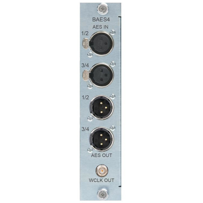 Burl BAES4 - 4 channel AES I/O daughter card for B80 Mothership. 2 XLR in, 2 XLR out, 1 BNC