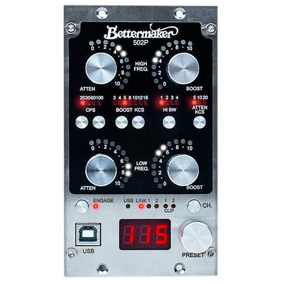 Bettermaker EQ502P - 500-Series Digitally Controlled Passive Stereo EQ