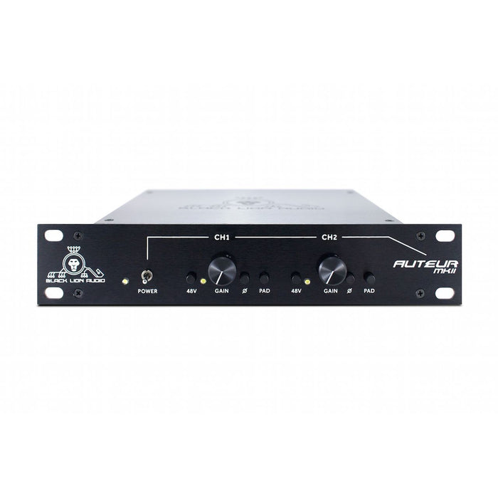 Black Lion Audio Auteur MKII - Twin Channel Preamp Front