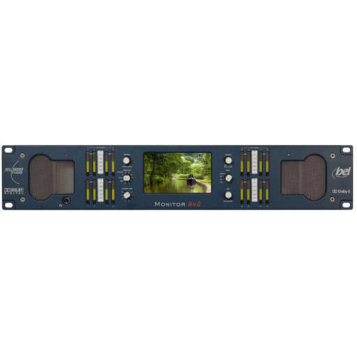 "Bel BM-AV2-E16SHD - 2U 16ch Audio, 5"" SDI Video Monitor with Dolby Decoding front"