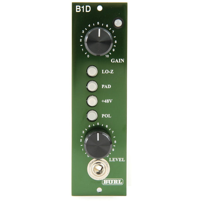 Burl B1D - 500-Series Mic Pre with Steel Output Transformer