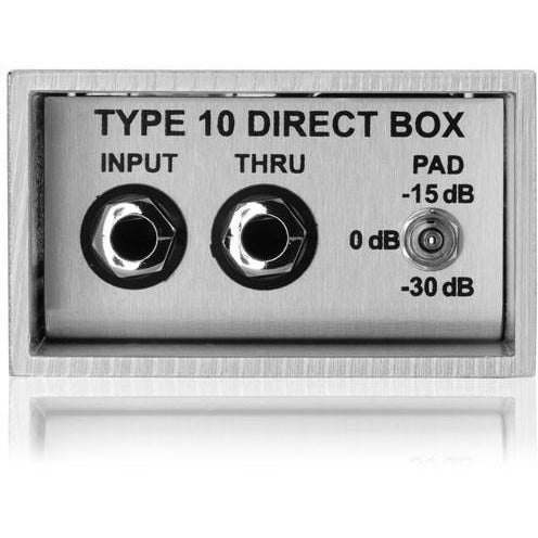 Countryman DT10 active DI box; low distortion, low noise, high accuracy