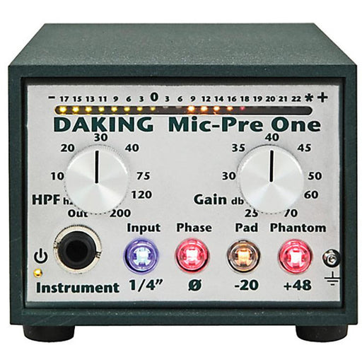 Daking Mic Pre One - Single Channel Daking 52270 Preamp - B-Stock