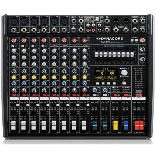 Dynacord CMS600-3 Mixing Desk 12 Input with USB and Digital Effects