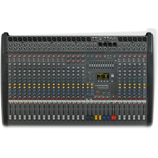 Dynacord PowerMate 2200-3 Mixing Desk 22 Input with USB, Digital Effects and 2x100W Amp