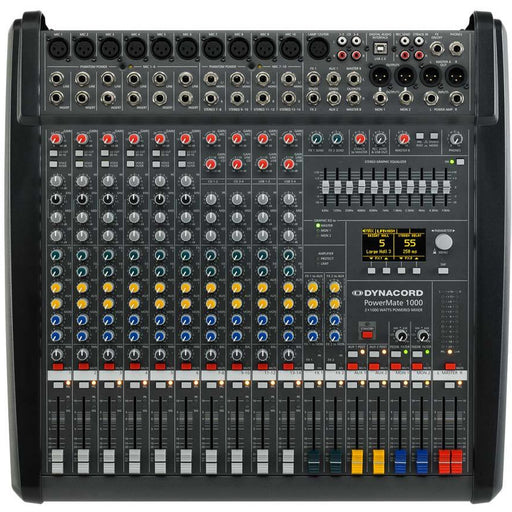 Dynacord PowerMate 1000-3 Mixing Desk 10 Input with USB, Digital Effects and 2x1000W Amp