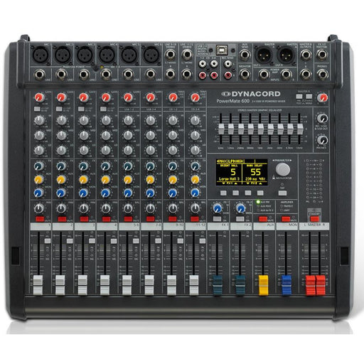 Dynacord PowerMate 600-3 Mixing Desk 12 Input with USB, Digital Effects and 2 x 1000W Amp