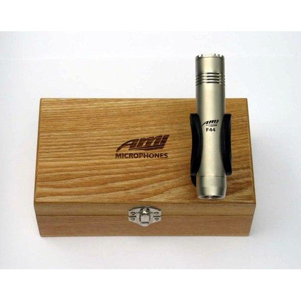 AMI F44 - Cardioid Condenser Microphone. Incl Mic Clip and Wooden Box