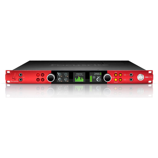 Focusrite RED 4 Pre - 58-in / 64-out Thunderbolt 2, Pro Tools|HD and Dante Network Audio Interface Front