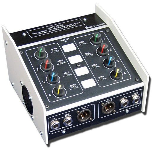 Glensound GS-HA005 - Twin Headphone Amplifier with four mixable Inputs per amp