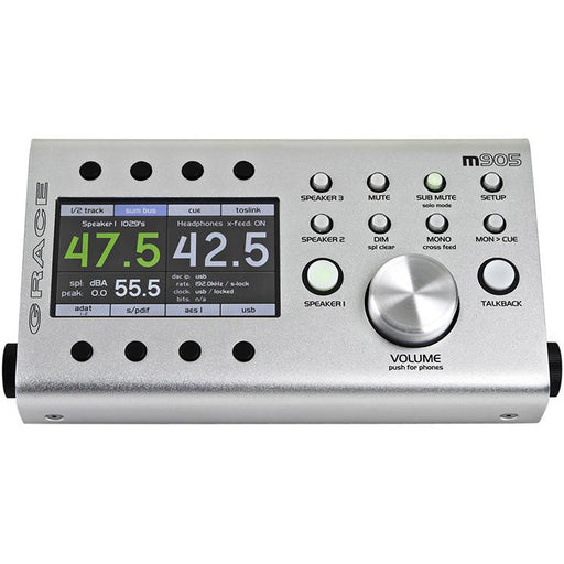 Grace Design M905 - High Fidelity Stereo Monitoring System with Remote Control Unit - B-Stock
